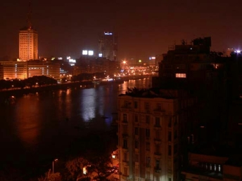 Cairo, Egypt - Nile River at Night (c)Vail, Ginny/Peggy/Mary?