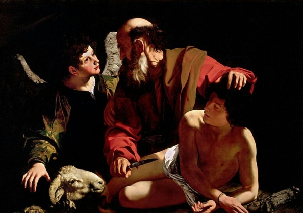 Abraham's sacrifice by Caravaggio