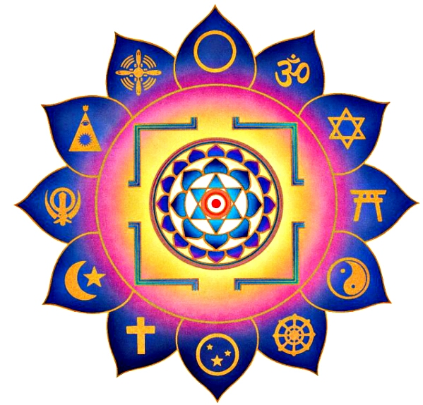 buddhism, christianity, islam, etc interfaith symbols
