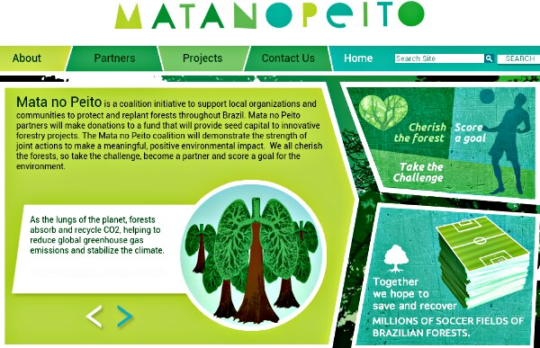 Nike Mata no Peito Rainforest Initiative screenshot, matanopeito.org