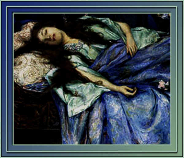 Henry_Meynell_Rheam-Sleeping_Beauty closeup